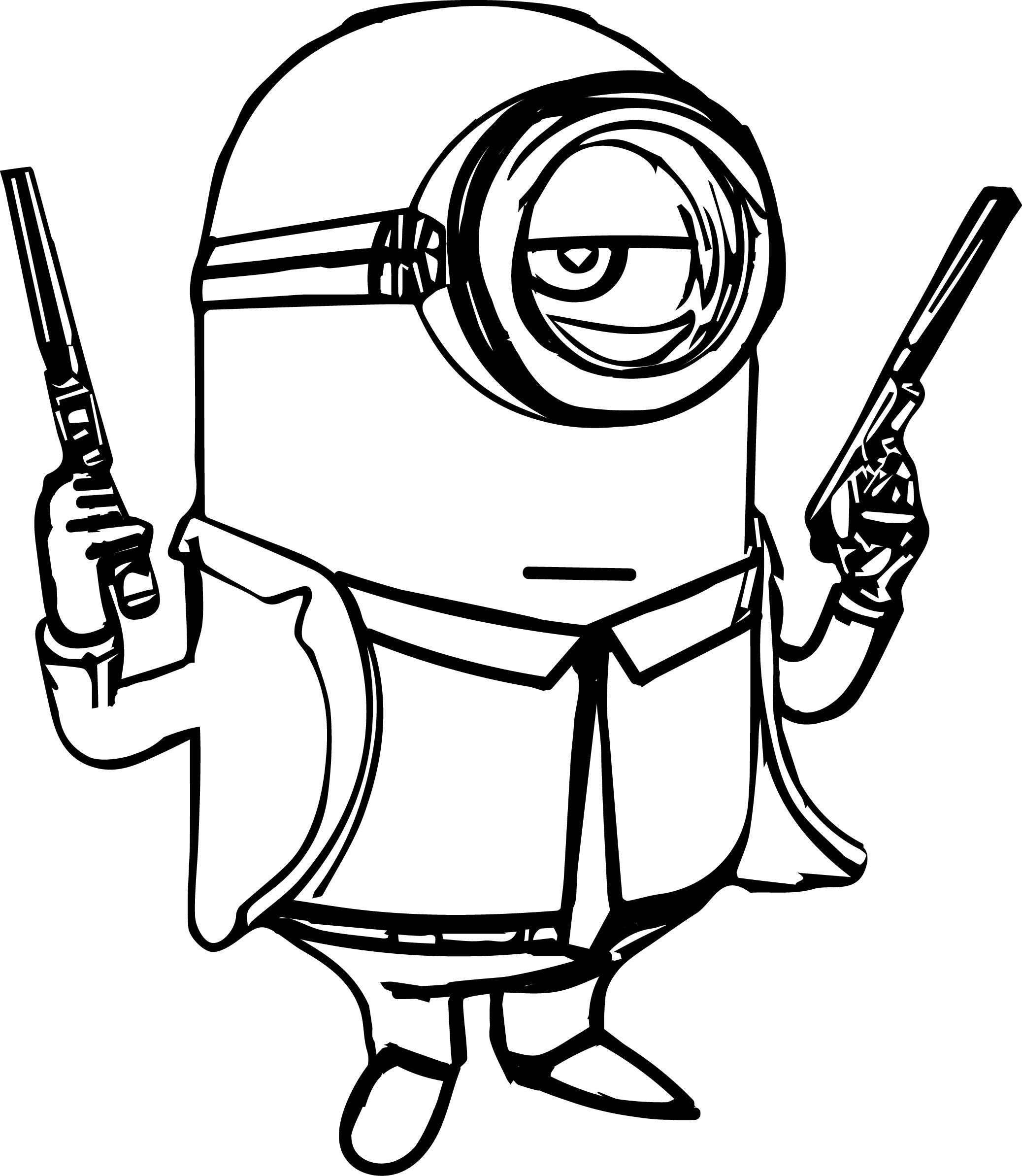 2075x2387 Coloring Pages Cool Gun Coloring Pictures Minion Page Pages Gun