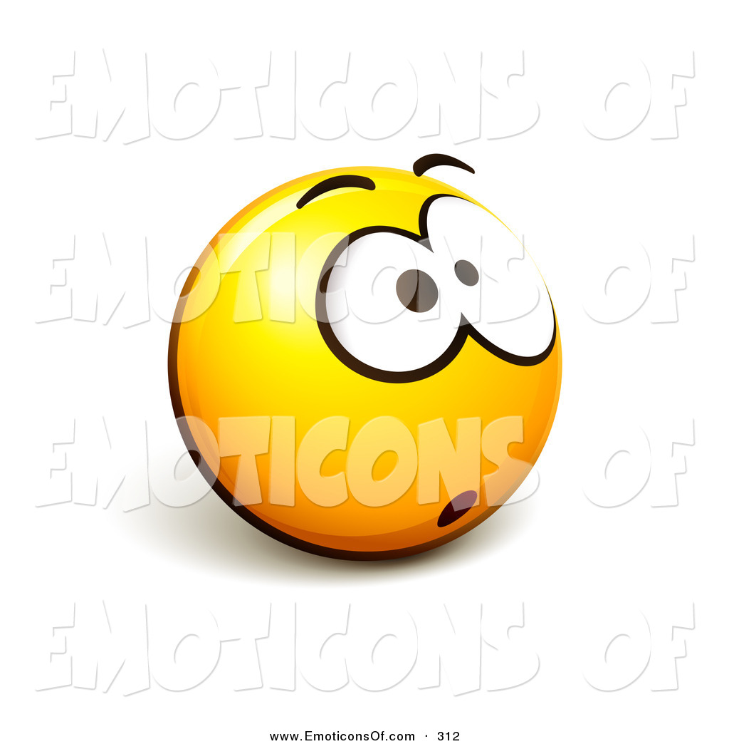 1024x1044 Clip Art Vector Of A Wide Eyed And Expressive Yellow Smiley Face