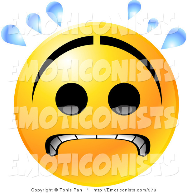 600x620 Clip Art Of A Nervous Yellow Emoticon Face With A Frown, Gritting