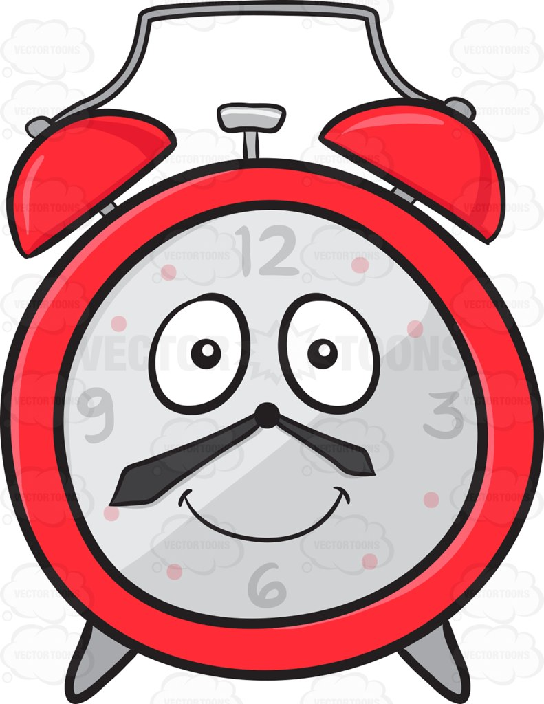 791x1024 Smiling And Happy Alarm Clock Emoji Cartoon Clipart