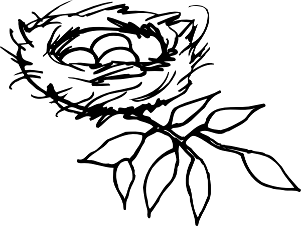 600x452 Nest Outline Clip Art