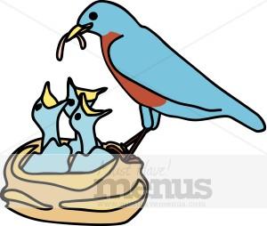 300x254 Spring Bird Nest Clipart