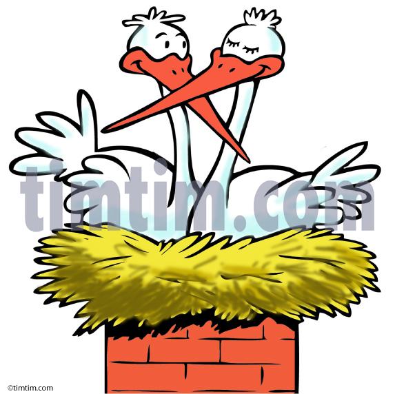 573x572 Stork's Nest Clipart
