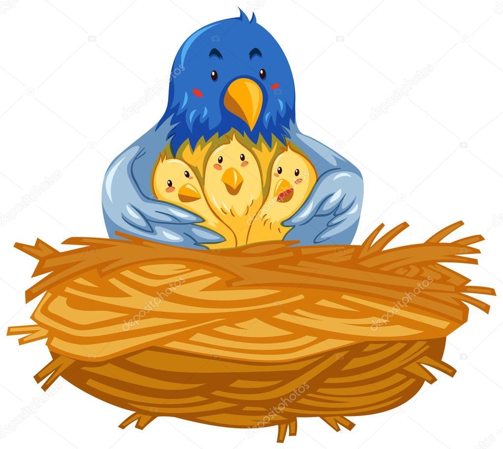 1023x912 Bird's Nest Clipart Mother Bird