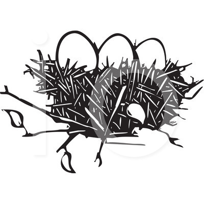 400x420 Eagle Nest Clipart Black And White Clipart Panda