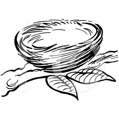 400x420 Nest Clipart Black And White