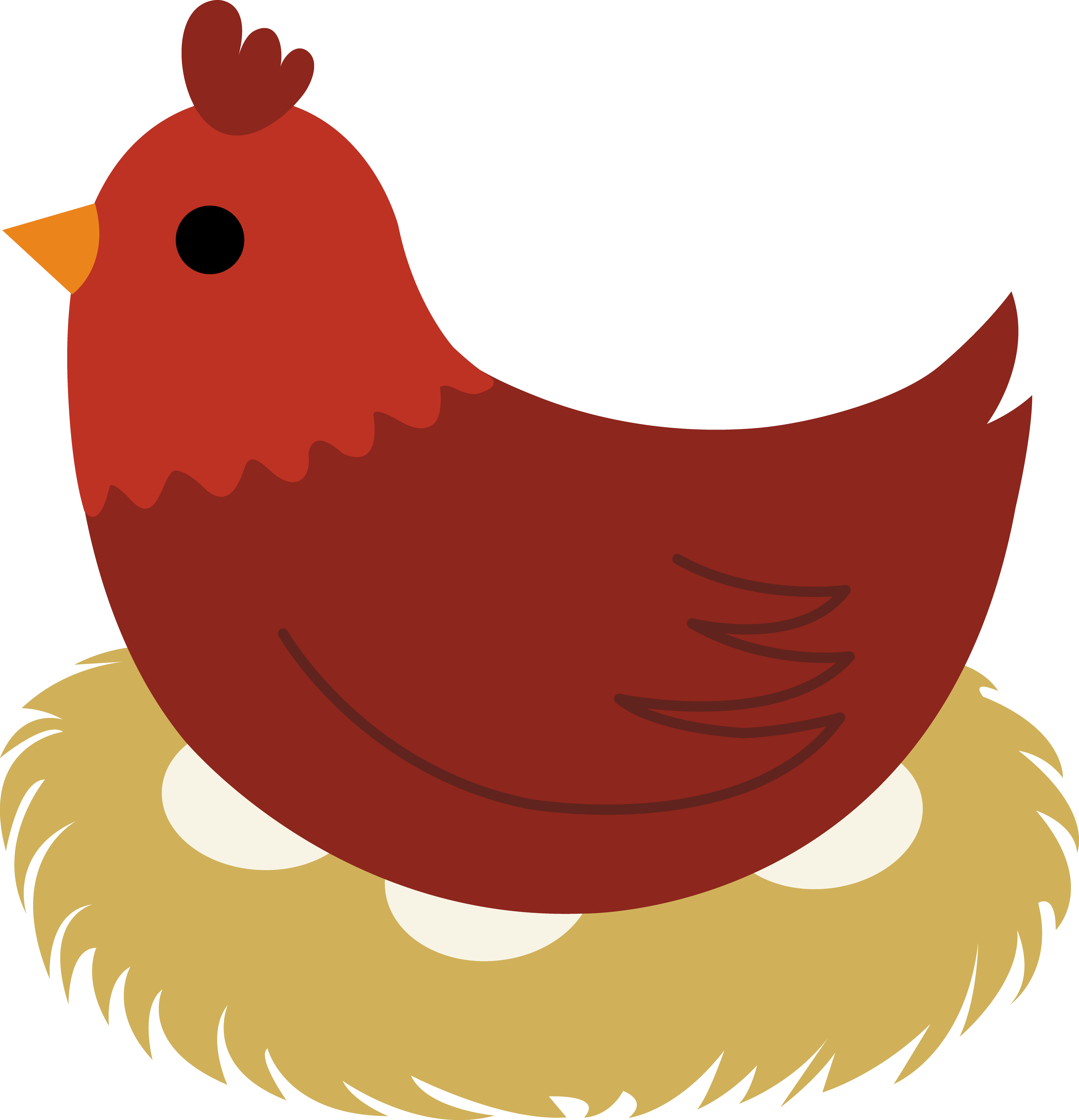 4335x4500 Brown Hen Sitting On Nest