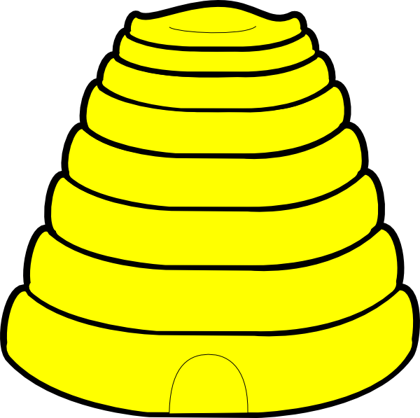 600x597 Beehive Clip Art