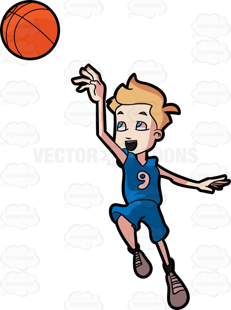 765x1024 An Adolescent Boy Jumps Up In The Air While Playing Basketball