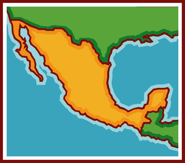 637x564 Mexico Map Clipart