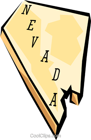 312x480 Nevada State Map Royalty Free Vector Clip Art Illustration
