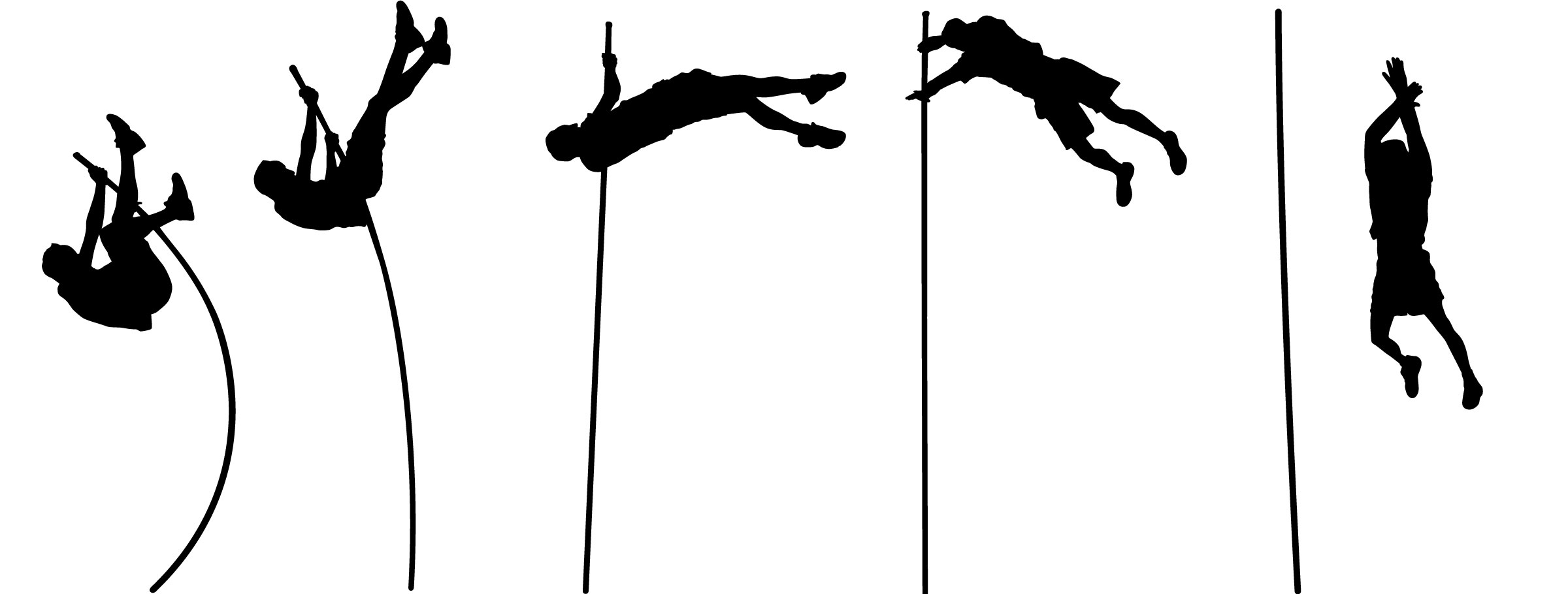 2400x910 Pole Vault Clip Art