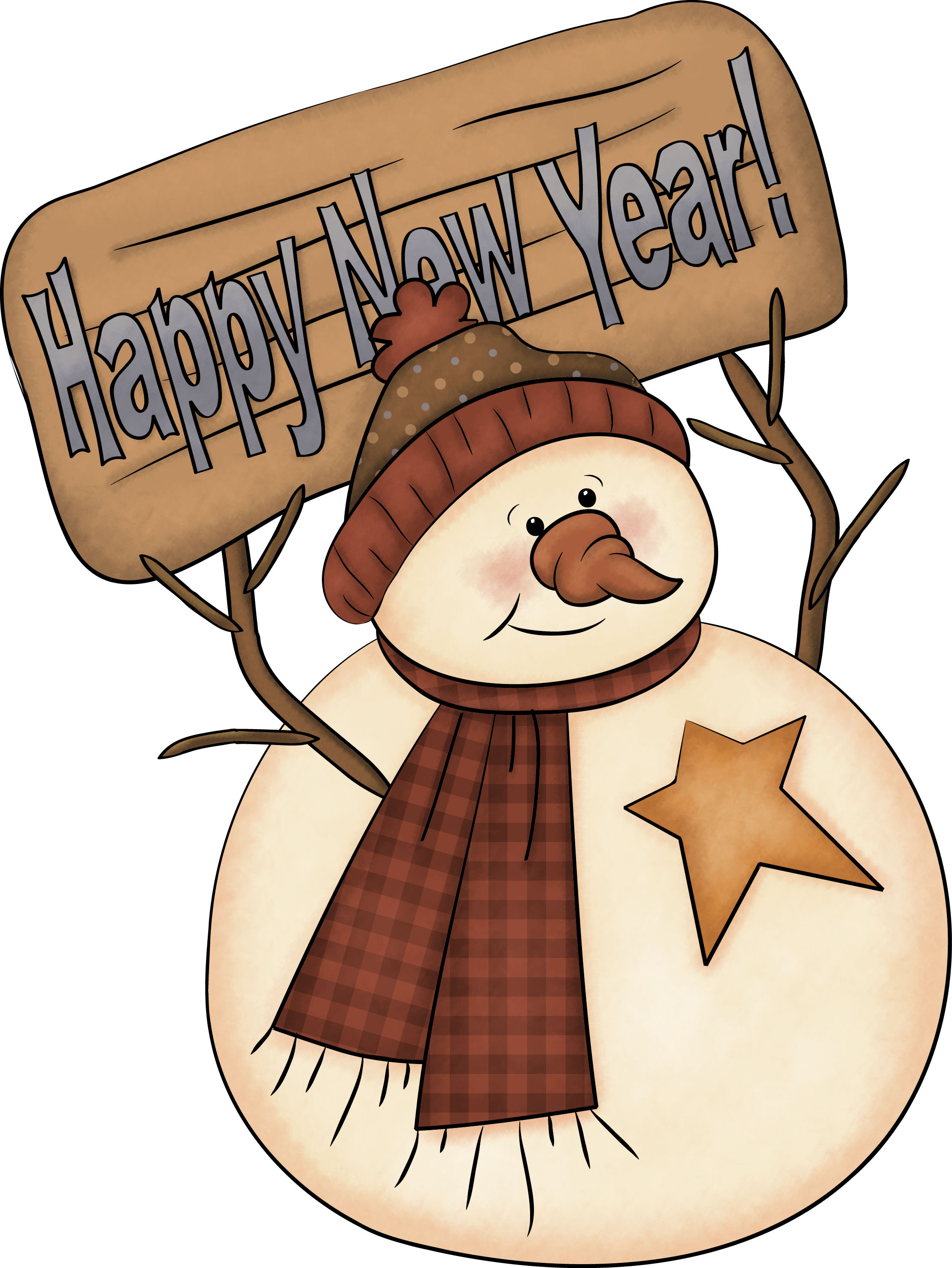 2218x2953 Snowman Clipart New Year