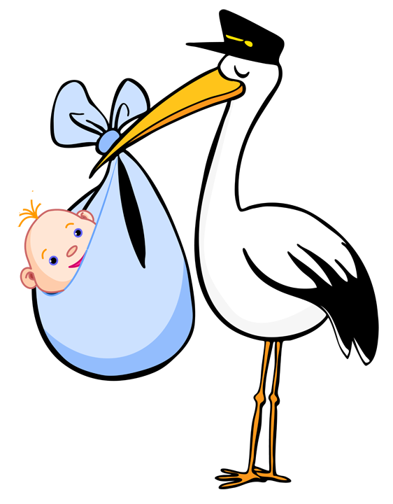 562x720 Baby And Stork Clipart