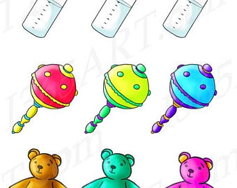 340x270 Baby toy clipart Etsy