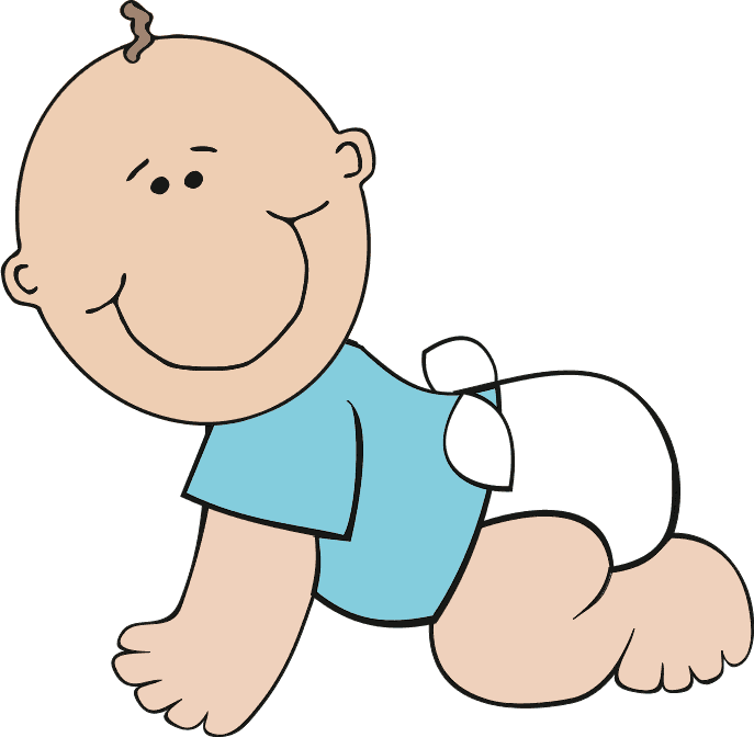 687x672 Born Baby Clipart