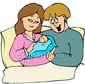 300x296 Mother And Baby Clipart Born
