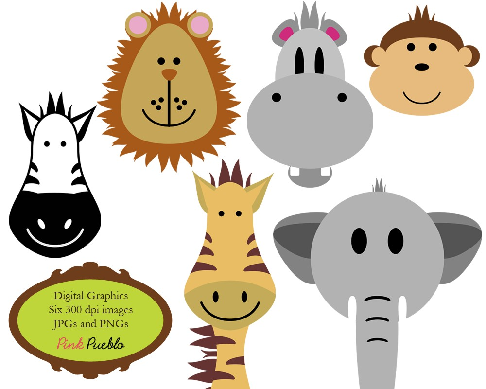 1000x800 Safari Animals Clip Art