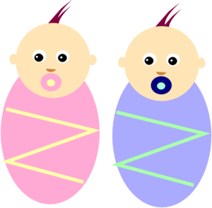 300x294 new baby twins clipart