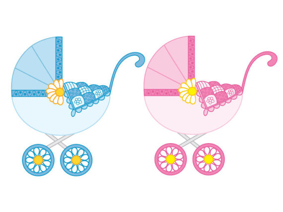 570x428 Baby Stroller Clipart