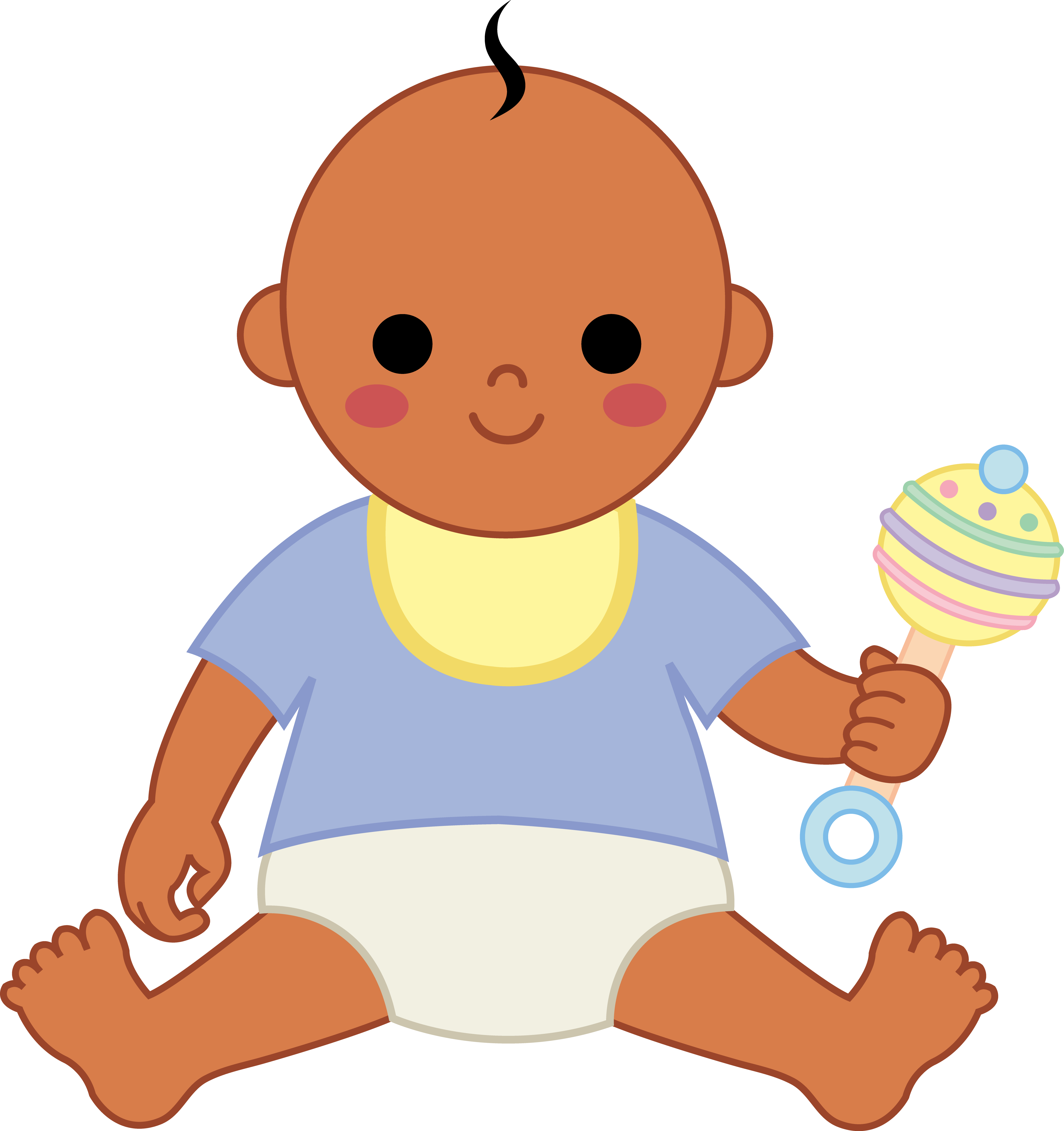 5175x5502 Cartoon babies clipart