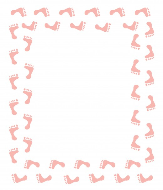 520x606 Free Baby Shower Clip Art Clip art, Footprints and Babies