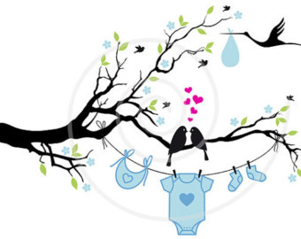 340x270 Stork Clipart Baby Silhouette