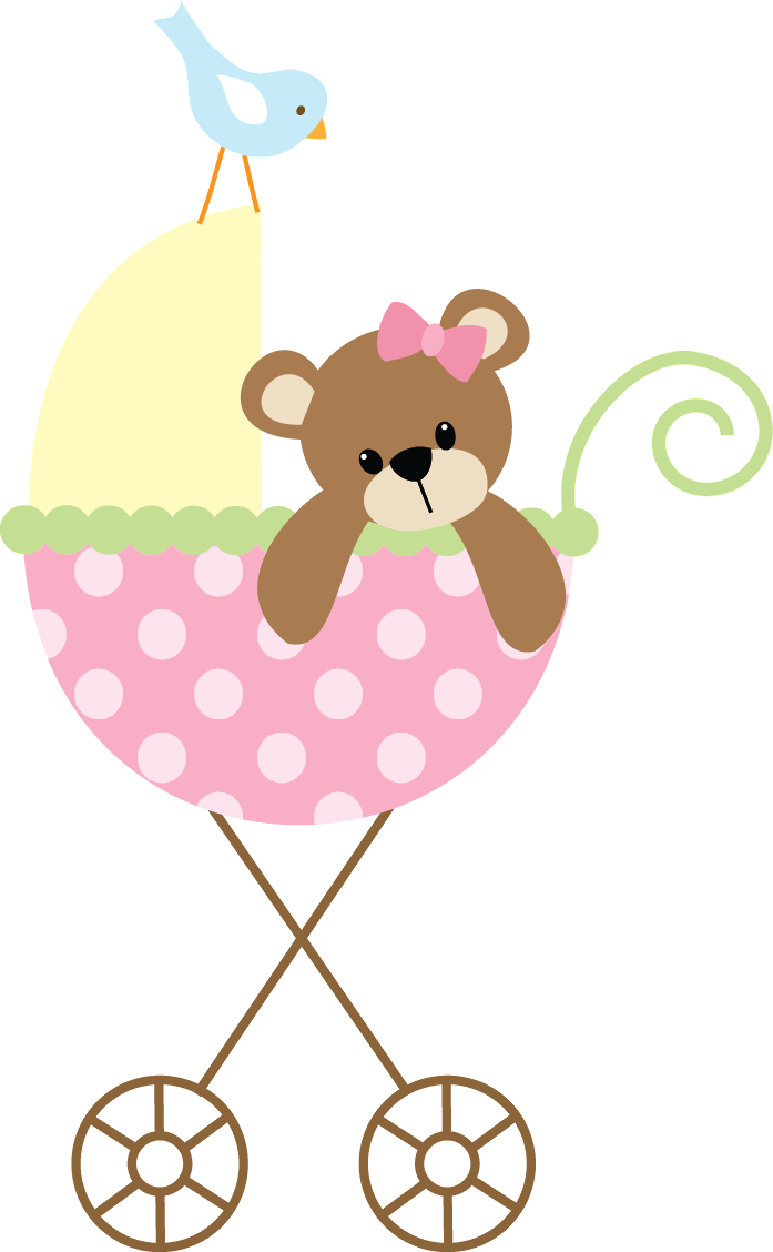 697x1128 baby clipart girl Cute Pink Baby Carriage