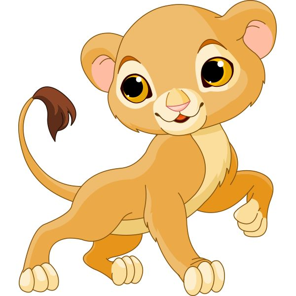 600x600 Baby Girl Lion Clipart