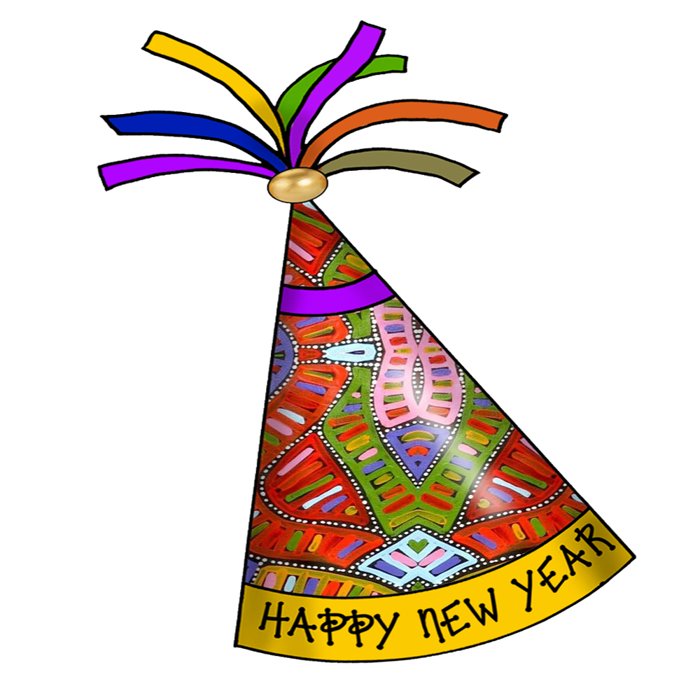1000x1000 New Years Party Hat Clip Art – Happy Holidays!