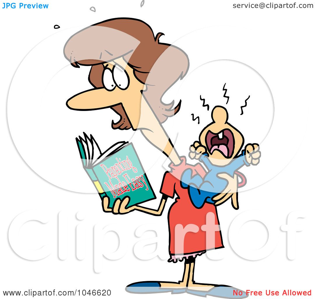 1080x1024 Royalty Free (Rf) Clip Art Illustration Of A Cartoon New Mom