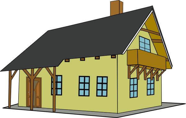 600x381 House clip art free images free clipart images