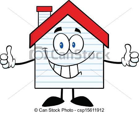 450x364 House Clipart Smiling