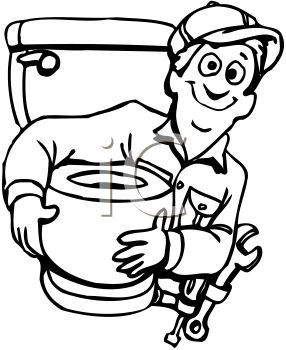 286x350 Plumber Holding a New Toilet