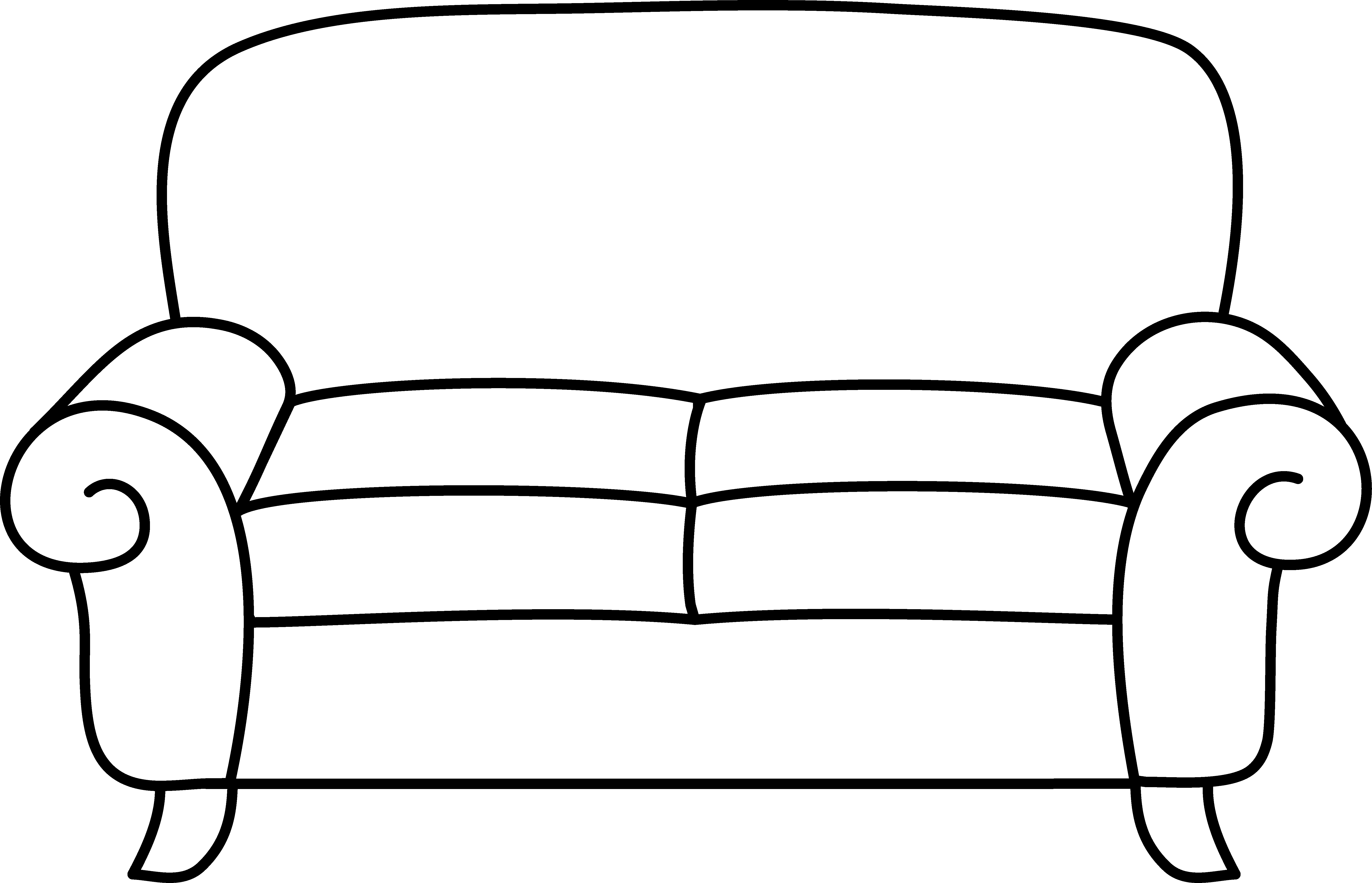 6597x4247 Sofa coloring page free clip art