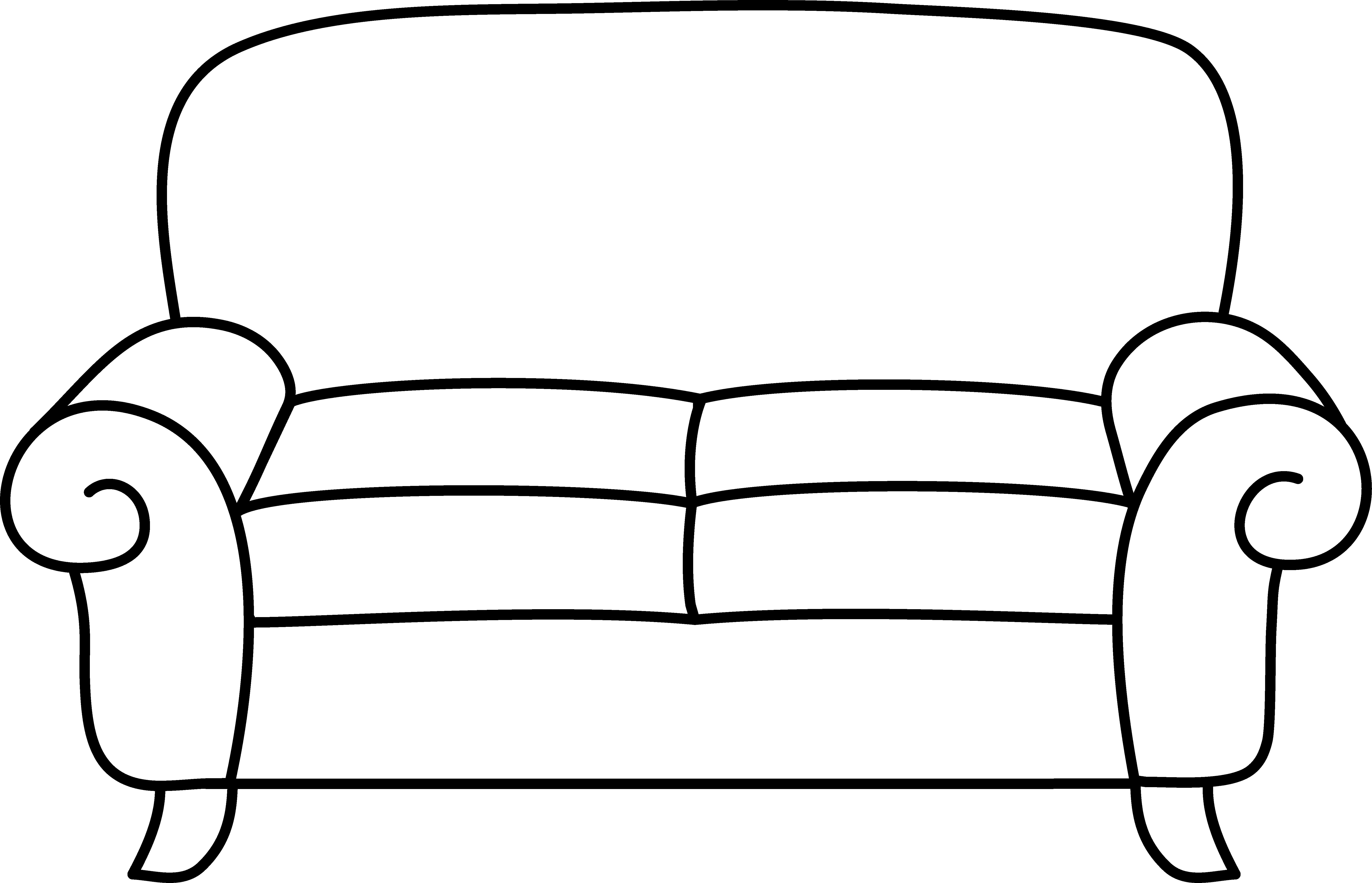 6597x4247 Sofa coloring page free clip art