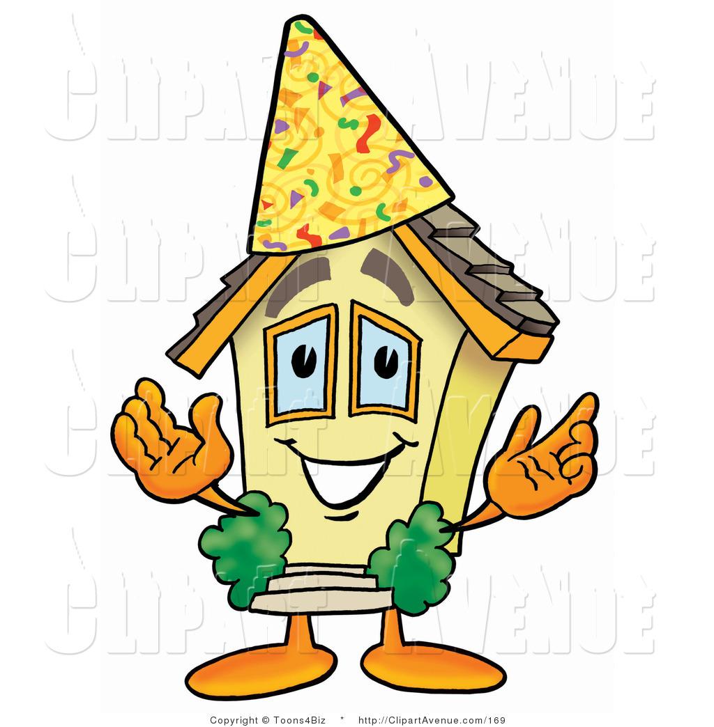 1024x1044venue Clipart Of Home Mascot Cartoon Character Wearing