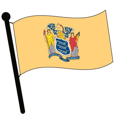 500x500 New Jersey Waving Flag Clip Art