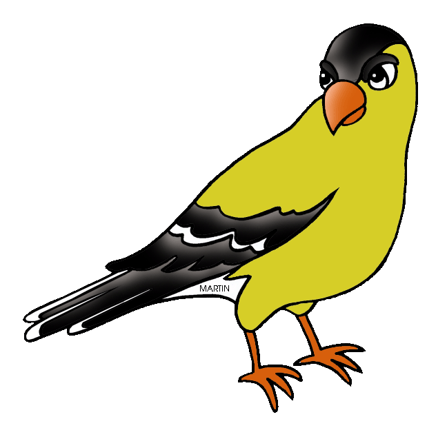 648x624 United States Clip Art By Phillip Martin, New Jersey State Bird