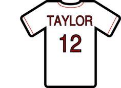 236x172 Baseball Jersey Design Template Blanktshirt Image