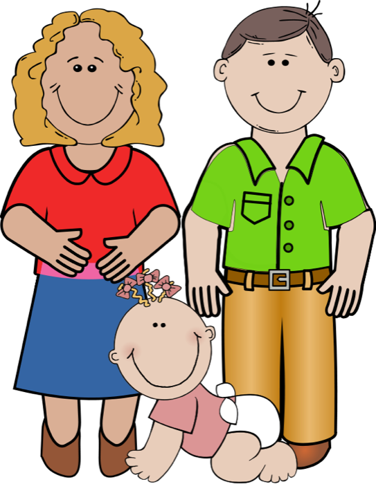 543x700 Mother And Father Clipart