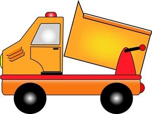 300x225 Cartoon Truck Clipart