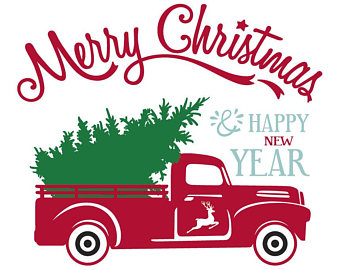 340x270 Christmas truck dxf Etsy