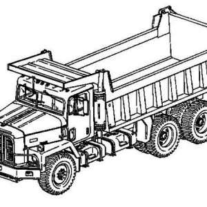 300x300 How To Draw A Garbage Truck New Dump Truck Coloring Pages