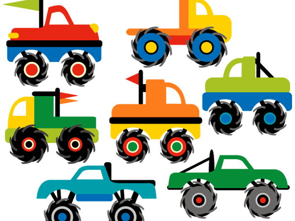 600x450 Monster Truck Collection Clip Art Graphics By Revidevi