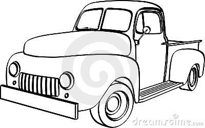400x250 Blue Pickup Truck Clipart