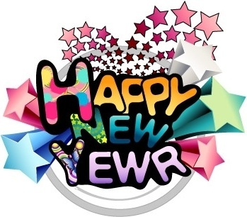 349x306 Happy New Year Word Art Free Vector Download (214,480 Free Vector