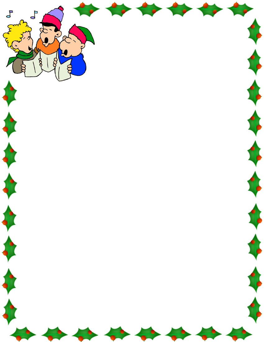 850x1100 kids christmas rudolph border merry christmas amp happy new year arts