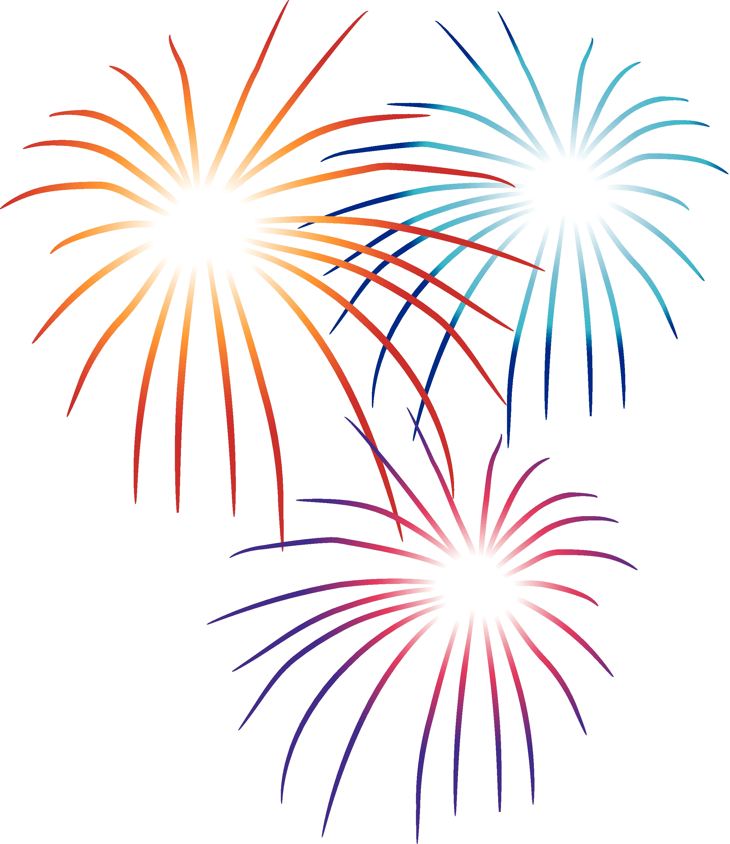 2550x2950 new year fireworks clipart