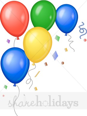 291x388 Bright New Year's Balloons Clipart Party Clipart Amp Backgrounds